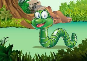 Cute Earthworm Vector Character