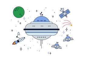 Gratis Space Ships Vector