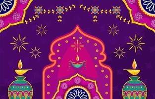 feestelijk diwali-dagconcept vector