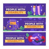 wees bewust en geef liefde aan mensen met een handicap vector