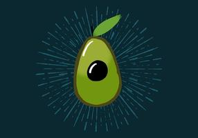 Radiant Avocado vector