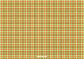 Oranje / Groen Flanel patroon achtergrond vector