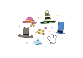 Gratis Hats Vector