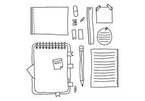 doodled Notes vector