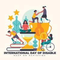 grootheid bereiken in handicap vector