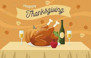 kalkoen voor Thanksgiving-diner vector