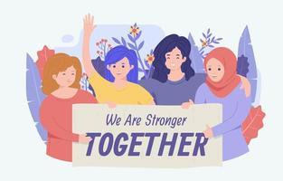 vrouw empowerment bewustzijn concept vector