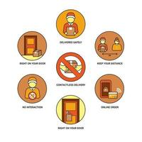 goederen leveren zonder menselijk contact vector