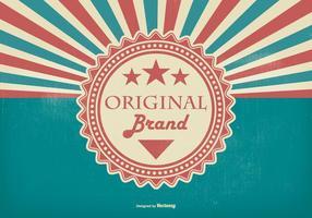 Retro Promotional Original Brand Illustratie vector