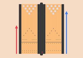 Bowling Lane Vector Illustration