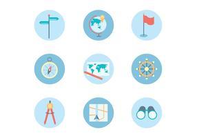 Flat Iconen van Navigation Theme