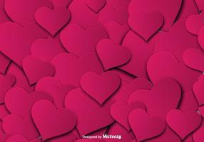 Roze Harten naadloze patroon - Vector