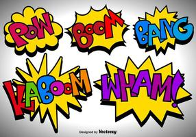 Vector Comic Speech Bubbles Pictogrammen