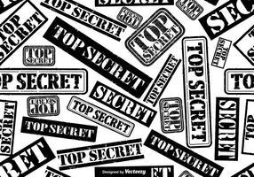 Vector Top Secret Stempel Naadloos Patroon