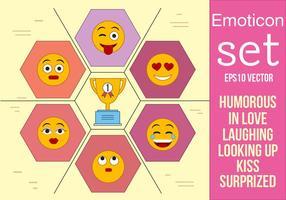 Gratis Set Vector Emoticons