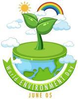 wereld milieu dag pictogram
