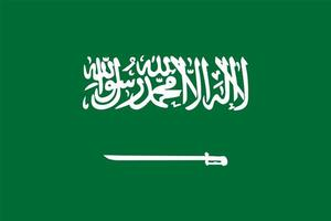 vlag van saoedi-arabië vector