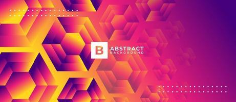 geometrische oranje en roze veelhoek vorm abstracte achtergrond