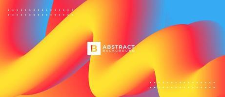3d neon gele golfvorm abstracte vloeibare achtergrond