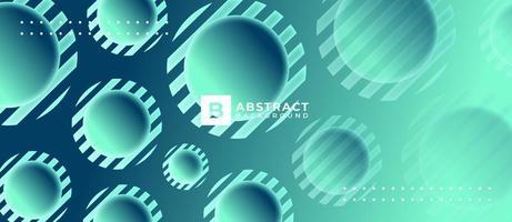 groene 3d omgekeerde cirkelvormige vormen abstracte achtergrond vector