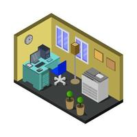 isometrische kantoorruimte vector