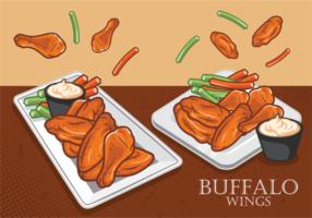 Buffalo Wings gratis Vector