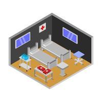 isometrische ziekenhuiskamer