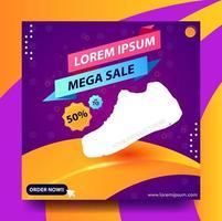 instagram-post of vierkante poster voor mega-verkoop vector