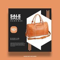 mode zwart en bruin verkoop bannerontwerp vector