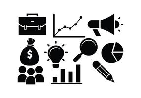 Free Business Icon Silhouette Vectors
