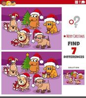 verschillen educatieve taak voor kinderen met honden vector