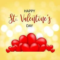 kaart Valentijnsdag met realistisch hart