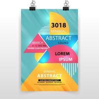 multi-vorm abstracte illustratie poster vector