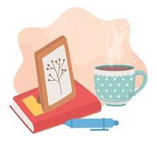 afbeeldingsframe met kopje koffie