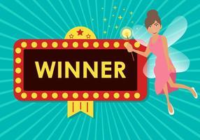 Fairy Winnaar Jackpot Vector
