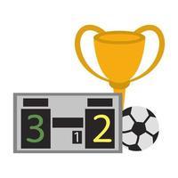 voetbaltoernooi spel cartoon