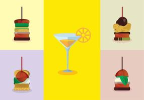 Sweet Canapes Vector Pack