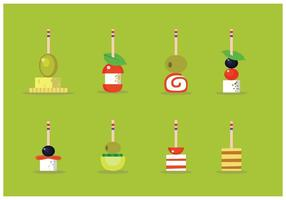 Canapes Sweetness Vector Illustration