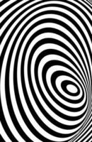 zwart witte 3D-lijn, vervorming illusie