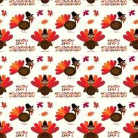 gelukkig thanksgiving patroon met kalkoenen