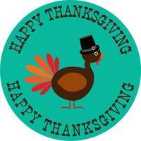 thanksgiving cirkel afbeelding met kalkoen