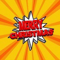 pop-art komisch vrolijk kerstfeest tekstontwerp