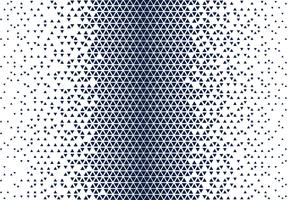 blauw en wit halftoon driehoekspatroon vector