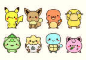 Set Van Pokemon Pictogrammen vector