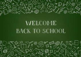 terug naar school levert schoolbordbehang