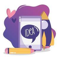 creativiteit en technologiesamenstelling met smartphone
