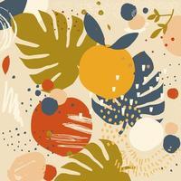 kleurrijke bladeren poster achtergrond vector