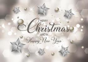 decoratieve kerst en nieuwjaar achtergrond
