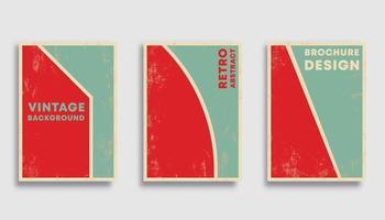 retro ontwerpset als achtergrond vector