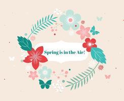 Gratis Vector Spring Flower Wreath
